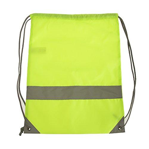 Shugon Stafford Plain Drawstring Tote Bag - 13 Litres Hi-vis Yellow