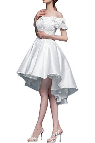 Schulter Schnuerung Pakung Hi Kragen Abendkleider Partykleider Damen Lo Spitze Gerade Bliebt Ballkleider Ivydressing Schleife Tanzenkleider Satin Blau mit nx0wqaXY