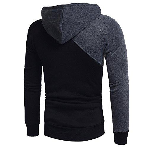 Hauts Hoodie Cardigan capuche Outwear Sweat Manteau pour capuche shirt Black pour décontracté manches Manteau hommes Odrd à à Top 1 hommes Parka Pull longues Veste Blazer Pull Sweat Sweat Veste shirt à vwOmN08n