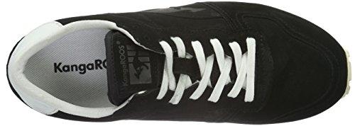 KangaROOS Blaze-nubuck - Zapatillas Unisex adulto Negro - Schwarz (Blk 500)