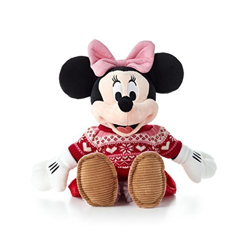 Hallmark Christmas Xkt1455 Cozy Sweater Minnie Mouse Stuffed Animal