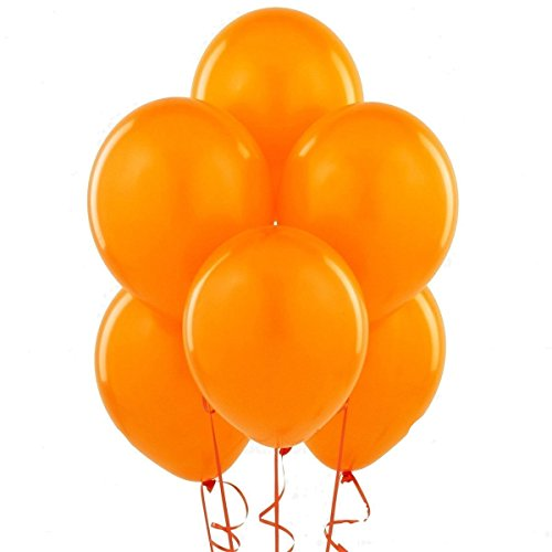 24 Inch Orange Latex Balloons (Premium Helium Quality) Pkg of 10