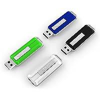 KOOTION 4PCS 4GB USB 2.0 Flash Drives Thumb Drives Memory Stick Retractable Cap-less Design (4 Mixed Colors: Black, Blue, Green, White)