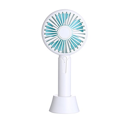 VANCTech Personal handheld Fan, Mini Protable Desk Table Fan USB Rechargeable Battery Operated with Dock and Aromatherapy Function Perfect for Home, Office, Travel accessories (3 Adjustable Speed, by VANCTech