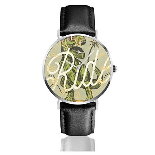 - Funny Dinosaurs Mens Watches Fashion Simple Minimalist Waterproof Quartz Analog Watch Designer Luxury Business Classic Dress Wrist Watch