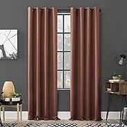 "Sun Zero Soho 2-Pack Energy Efficient Blackout Grommet Curtain Panel Pair, 54"" x 96"","