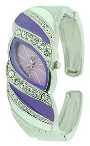 Style NSS86/C - Reloj analógico para mujer, correa de otros materiales color morado