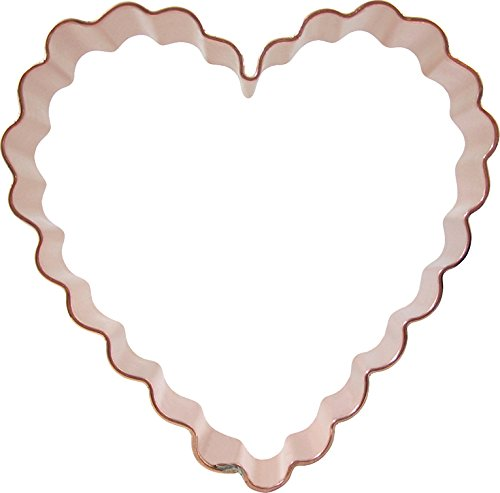 CopperGifts: Scalloped Heart Cookie Cutter 4.25 inch