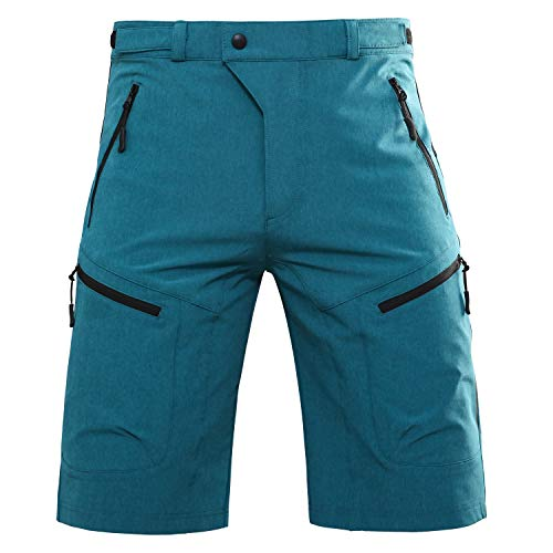 Hiauspor Men-Hiking-Climbing-Cargo-Shorts-Short (Blue XL (Waist: 34-36