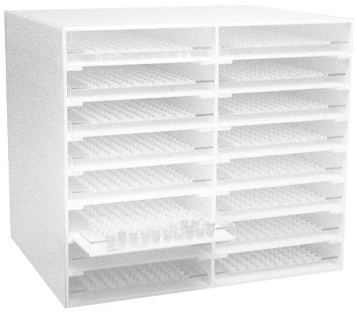 Dynalon 159554-0001 Acrylic Sample Cup 200 Place Storage Rack