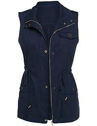 Womens Lightweight Sleeveless Military Anorak Vest