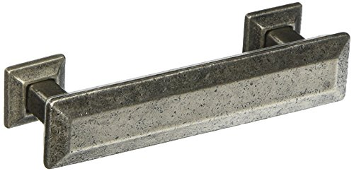 8 Inch Pewter Plate - MNG Hardware 83664 Poise Pull with Back Plate, 3