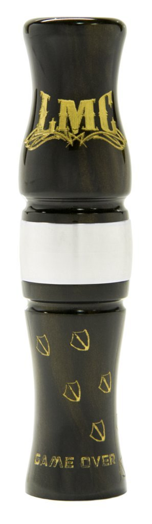 LYNCH MOB CALLS The Game Over Precision CNC Turned Acrylic Canada Goose Call, Black Gold, Size 5.25
