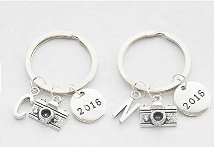 2016 llavero 2016 Cámara clave anillos 2 mejores amigos ...