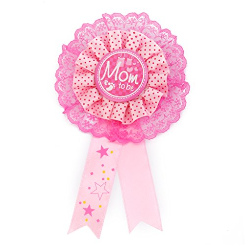 Mom To Be Writing Award Badge for Baby Shower Party Favor -