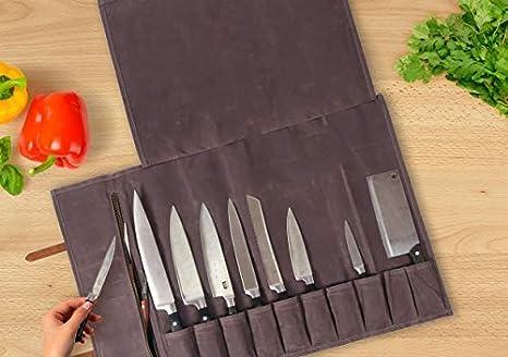 Amazon.com: Bolsa para cuchillos de chef – Bolsa para rollo ...