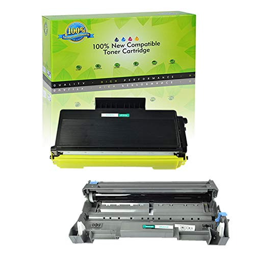 NineLeaf 2 Pack Combo TN580 Toner Cartridge DR520 Drum Cartridge Compatible for Brother DCP-8060 DCP-8065DN MFC-8460N MFC-8470DN MFC-8660DN MFC-8670DN HL-5240 HL-5250DN