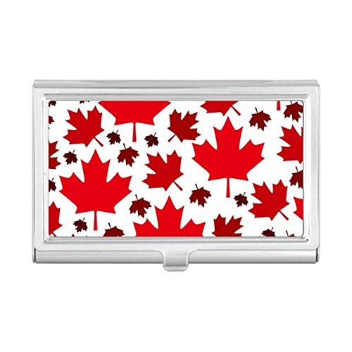 Canada Flavor Leaves Canadian Maple Flag Business Card Holder Case Wallet