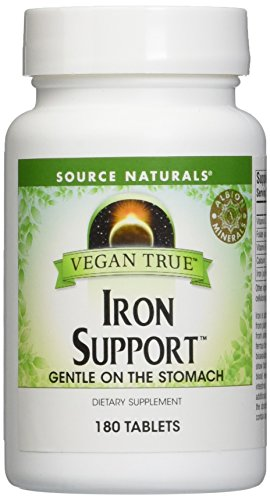 SOURCE NATURALS Vegan True Iron Support Tablet, 180 Count