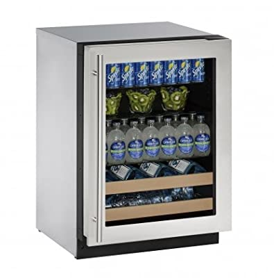 "U-Line U2224BEVS00A Built-in Beverage Center, 24"", Stainless Steel"