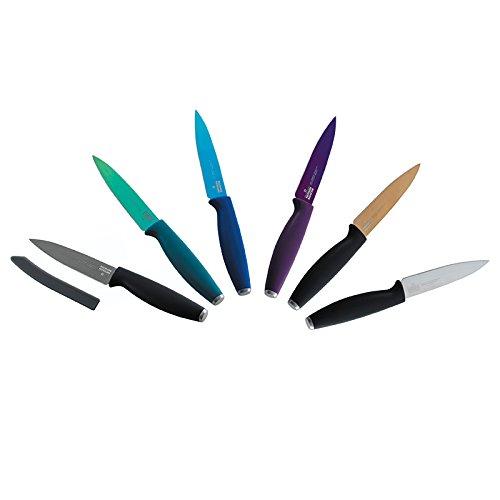 Kuhn Rikon 4-Inch Colori Titanium Paring Knife, Black/Silver by Kuhn Rikon (Image #2)