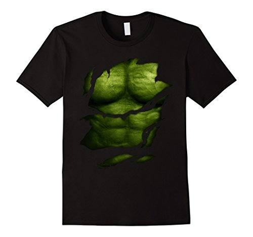 Male Superhero (Mens super hero funny t-shirt Muscles T-Shirt 2XL Black)