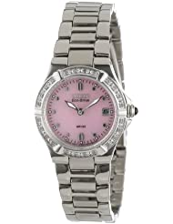 Citizen Womens EW0890-58X Eco-Drive Riva Diamond Accented Stainless Steel Watch