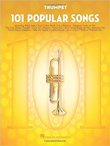 Amazon com: 101 Popular Songs: for Trumpet (9781495090271): Hal