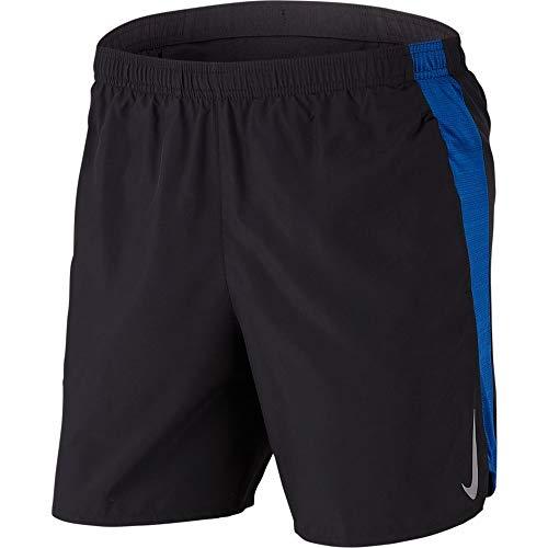 Nike Men's Challenger Dri-FIT 7'' Running Shorts (X-Large, Black/Indigo Force)