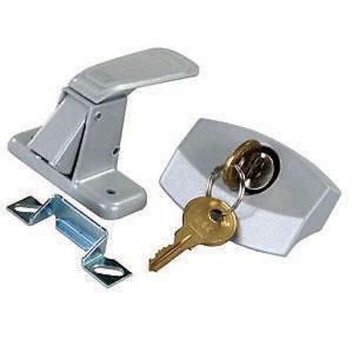 CPW (tm Camper Silver Locking Entry Door Handle Lock Latch Pop Up RV Trailer New