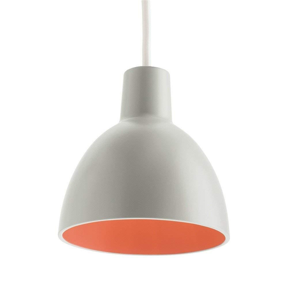 Einfache, Moderne Restaurant Leuchtet Nach Dem Modernen Coffee Shop Licht Kreative Persönlichkeit Bar Lampe Single Head Pendelleuchten, 25  26 Cm (E271), Grau + Orange