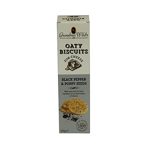 Oaty Biscuits for Cheese - Black Pepper & Poppy Seed (130 gram)