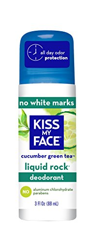 Kiss My Face Liquid Rock Aluminum Chlorohydrate Free Roll-on Deodorant, CUCUMBER GREEN TEA, 3 Ounce (Deodorant Rock Fragrance Liquid)