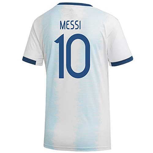 Messi #10 Argentina Home Women's World Cup Soccer Jersey 2019/20 (S) White ()