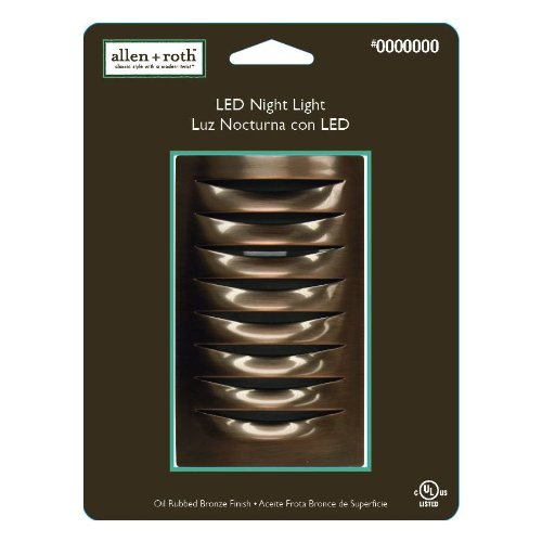 Allen + Roth LED Night Light Dark Oil-Rubbed Bronze Finish by allen + roth