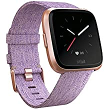 Fitbit Versa Special Edition Smart Watch, Lavender Woven, One Size (S & L Bands...