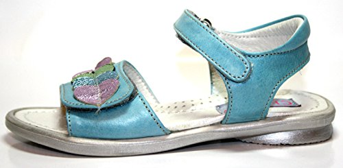 Cherie enfant chaussures pour fille, sandales 782–bleu (bleu/vert/rose-taille 25 (sans emballage)