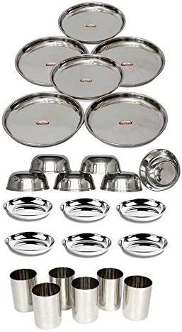 "6"" 8""10/""12 Stainless Steel Dinner Serving Bowl Kaotri Vati Set Table Dinnerware"