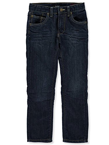 DKNY Big Boys' Greenwich Slim Fit Stretch 5 Pocket Denim Jean, Dark Indigo, 20