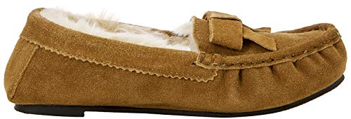 Bas Marron Moccasin Chaussons Suede Real tan Femme Isotoner Tan Slippers AgqxU