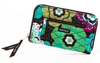 Bella Taylor Javabloom Quilted Cotton Wrist Strap Wallet ()