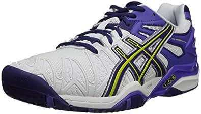 Amazon.com | ASICS Women's Gel-Resolution 5, White/Purple