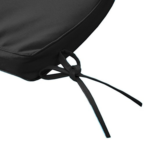 Black Water Resistant Curved Banana Bench Cushion *Bench not included*