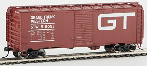 Ho Scale Grand Trunk - Walthers HO Scale 40' AAR 1948 Boxcar Grand Trunk Western/GTW/Large Logo #516053