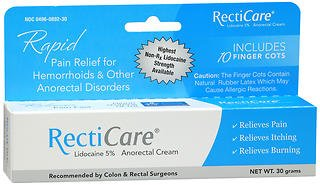 RectiCare Anorectal Cream 1 oz (30g) (Pack of 6) by RectiCare