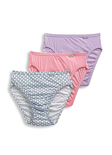 Jockey Women's Underwear Elance French Cut - 3 Pack, Pink Tulle/Bella Tile/Cotton Plum, - Tulle French