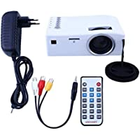 LightClub Famous Portable Full HD Mini 1080P Projector Home Use Theater Cinema HDMI AV Media Player with LED