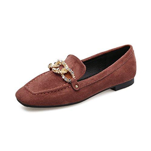Boca Profunda Zapatos Qiqi Xue Guisantes de de Corte de Cabeza Profundos la Zapatos Cuadrada Zapatos Tac de de PvPB1wxqU