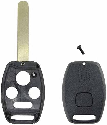 WFMJ Smart Remote Key Fob Case Shell for Honda Accord CR-V Insight Civic Ridgeline Replacement 4 Buttons Keyless Car Key FOB OUCG8D-380H-A IC 850G-G8D380HA No Chip