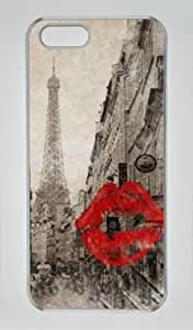 Vintage Romantic Paris Eiffel Tower Iphone 5 5S Hard Shell with Transparent Edges Cover Case by Lilyshouse wangjiang maoyi